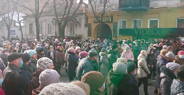 Антитарифный майдан начался в Мелитополе - видео