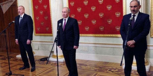 Обнародован текст совместного заявления России, Армении и Азербайджана — в нем 4 пункта