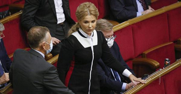 Шестидесятилетняя Тимошенко заявилась в Раду в облегающем наряде