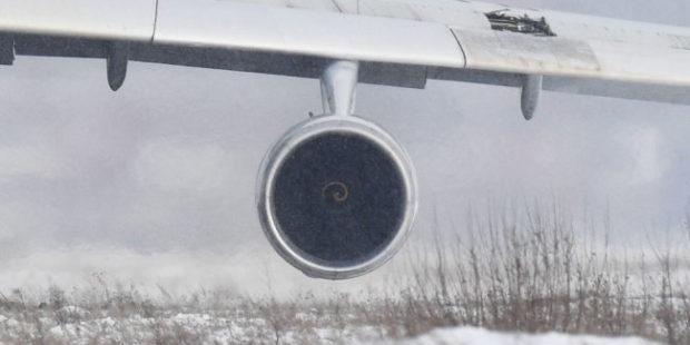 Ан-12 совершил жесткую посадку на Итурупе