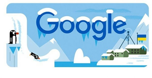 Google выпустил дудл в честь украинской антарктической станции