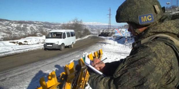 Российских миротворцев в Карабахе поздравили с Днем защитника Отечества