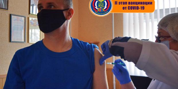 В здании ГУ МЧС в Иванове прошел II этап вакцинации от COVID-19