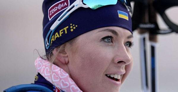 Украинская биатлонистка завоевала серебро в спринте на этапе Кубка мира