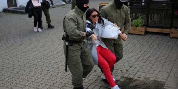 На акциях протеста в Минске прошли задержания