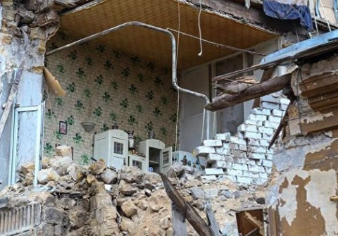 Памятник архитектуры обрушился в Одессе