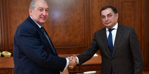 Президент Армении провел переговоры с представителем РПА