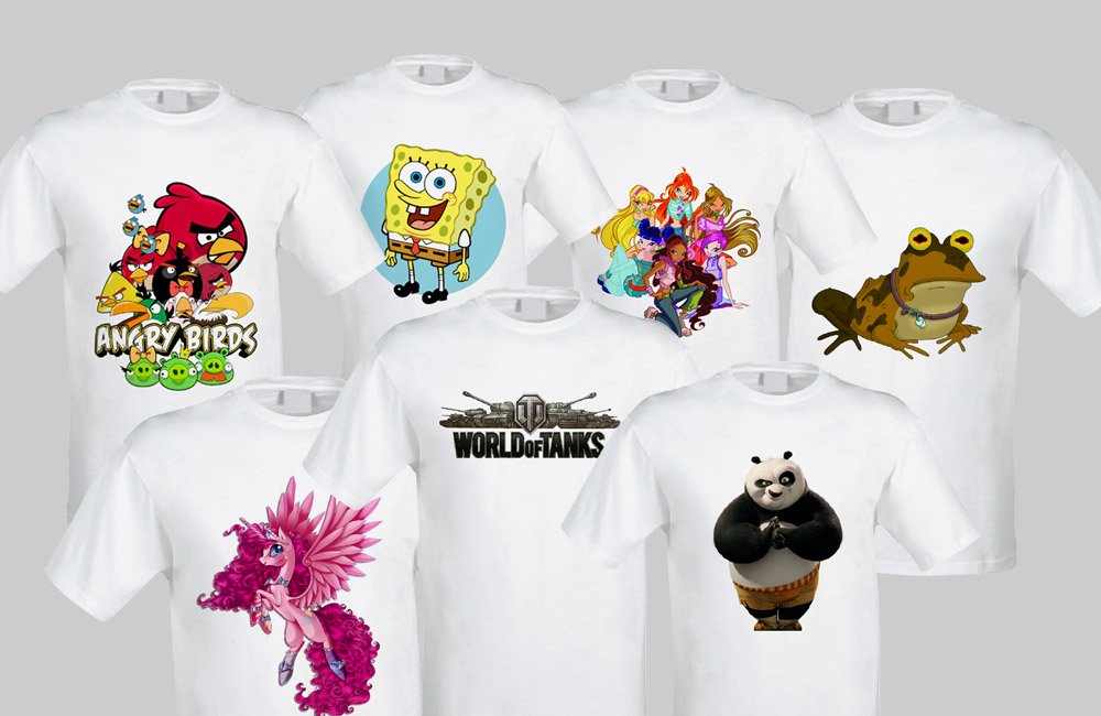 Логотип на футболках: варианты изображений и их выполнение