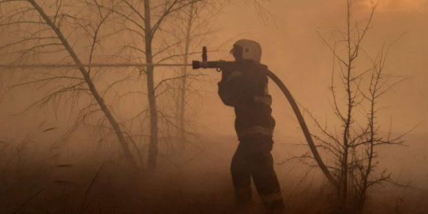 К тушению пожара на окраине Воронежа подключили поезд