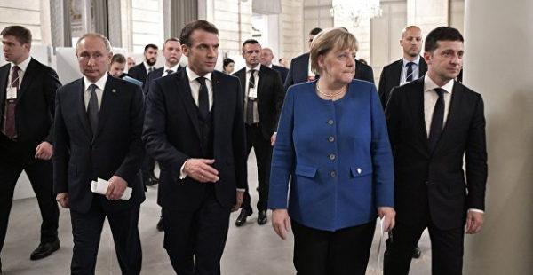Зеленский хочет переговорить с Макроном и Меркель о встрече с Путиным