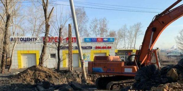 В Челябинске перекрыли движение из-за провала дороги