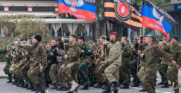 Парад Победы начался в Донецке