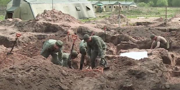 В Новгородской области найдено массовое захоронение времен войны