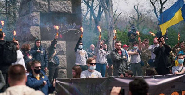 Нацкорпус устроил «Марш защитников» в центре Одессы