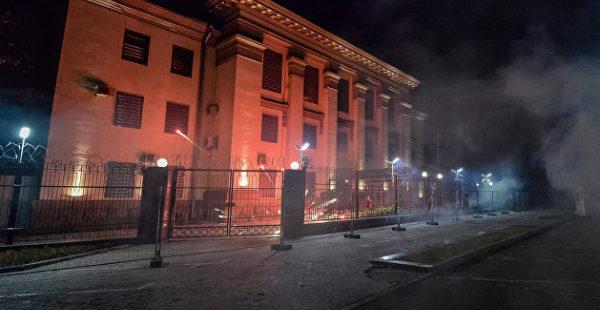 Посольство РФ на Украине направило ноту протеста из-за антироссийских акций