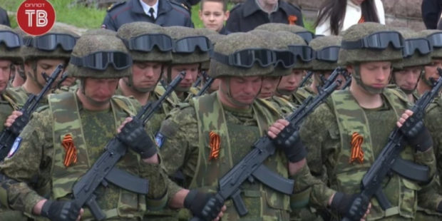 День Победы в Донецке 2021: полное видео парада