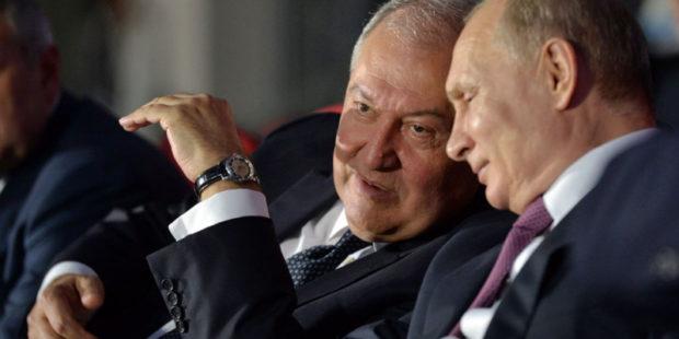 Узы дружбы будут служить развитию союзнических отношений – Путин поздравил Саркисяна