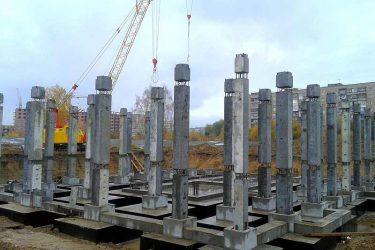 Где используются железобетонные колонны?