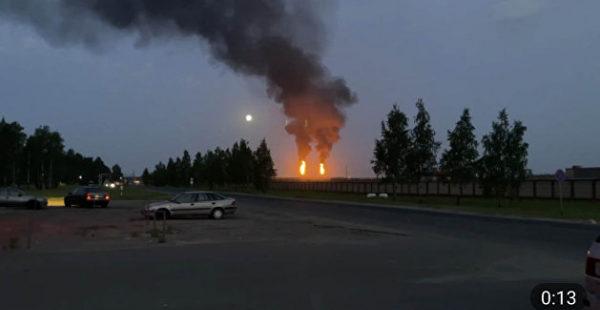 В сеть слили видео пожара на крупной белорусской электростанции