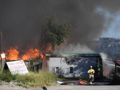 Число пострадавших при пожаре на новосибирской АЗС возросло до 35 человек