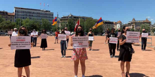 В Женеве прошла демонстрация в поддержку Армении и Арцаха