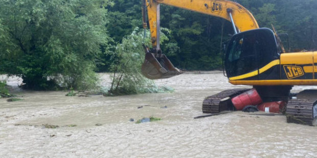 Федеральную трассу Джубга - Сочи перекрыли из-за затопления