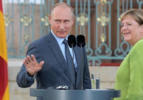 Меркель обсудила с Путиным «Северный поток-2» и Минские соглашения