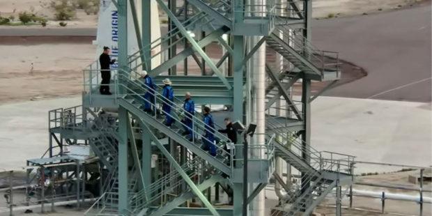 Джефф Безос выложил видео полета в космос