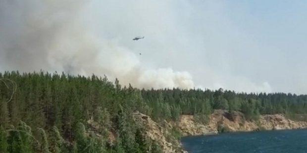 В тушении пожаров в Челябинской области задействуют военный Ми-8