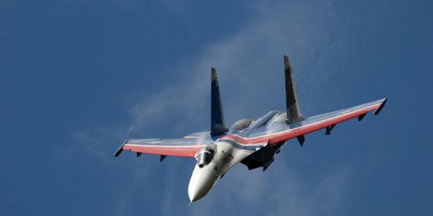 Су-27 поднялся на перехват немецкого истребителя над Балтийским морем