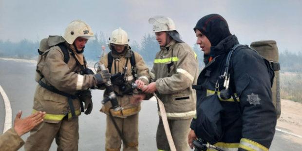 В Марий Эл из-за крупного лесного пожара ввели режим ЧС