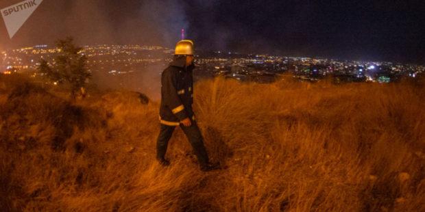 """Пожар в хозяйстве """"Джрвеж"""" потушен: сгорело порядка 3,5 гектаров лесного массива"""