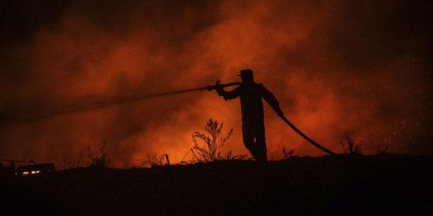В Турции из-за лесного пожара загорелась электростанция – видео
