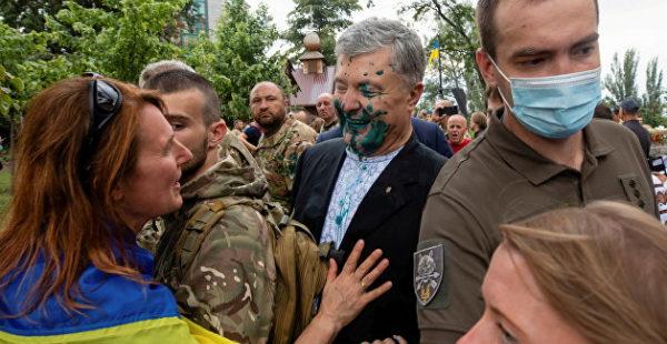 Гражданский долг: обливший Порошенко зеленкой украинец объяснил свой поступок