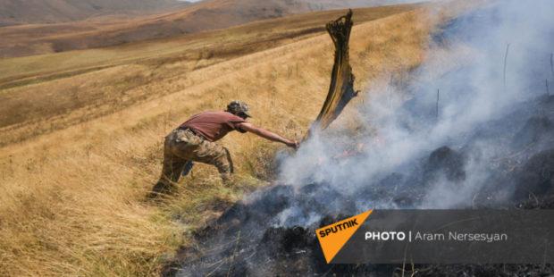 Какой ущерб нанесли вызванные азербайджанской стороной пожары – Татоян представил цифры