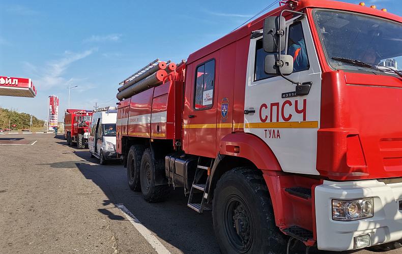 Аэромобильная группировка тульского МЧС направлена на тушение пожаров в Воронежскую область