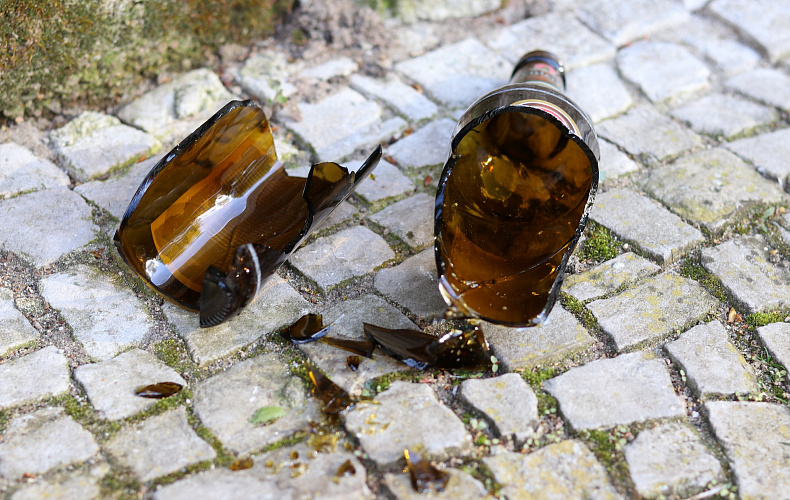 Мужчина, угрожавший прохожему бутылочной «розочкой» в парке, задержан в Тульской области