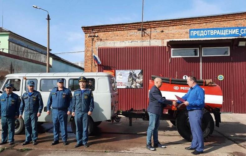 Пожарным добровольцев Тульской области передали технику