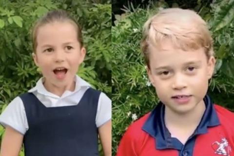 Кенсингтонский дворец поделился редким видео с принцем Джорджем, принцессой Шарлоттой и принцем Луи