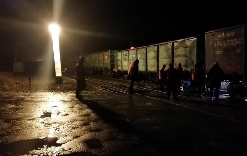 Движение поездов на месте схода грозовых вагонов в Тульской области восстановлено