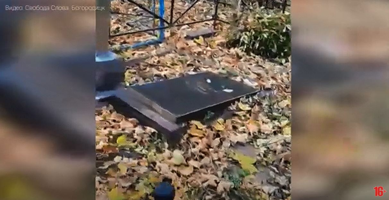 В Богородицке поймали вандала, разгромившего местное кладбище