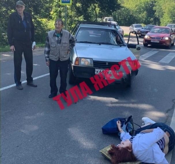 В Скуратовском районе Тулы пенсионер сбил женщину