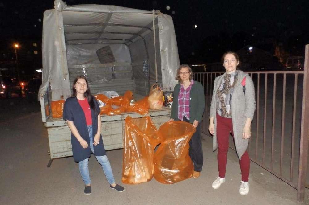 Щекинцы привыкают к сортировке мусора