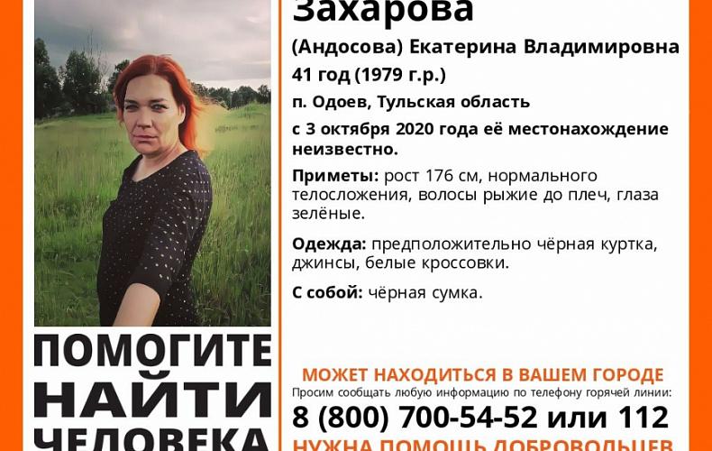 41-летнюю женщину разыскивают в Тульской области