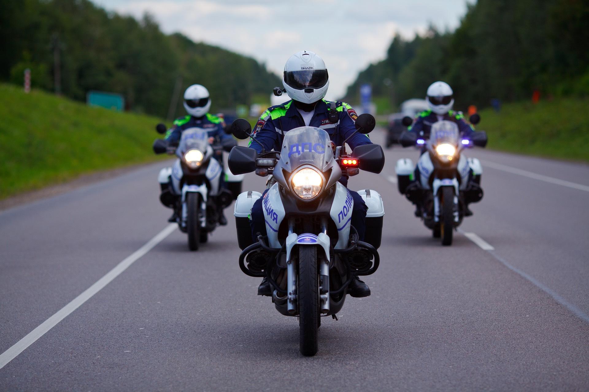 За неделю тульские мотоциклисты 16 раз нарушили ПДД