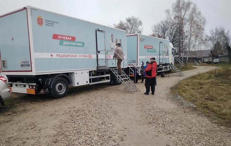 Мобильный комплекс «Взрослое здоровье» побывал в Щекинском районе