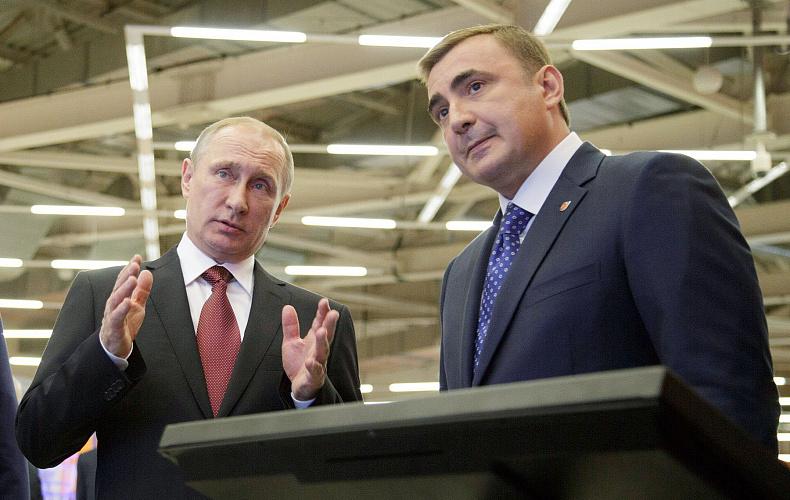 Алексей Дюмин поздравил Президента РФ с днем рождения