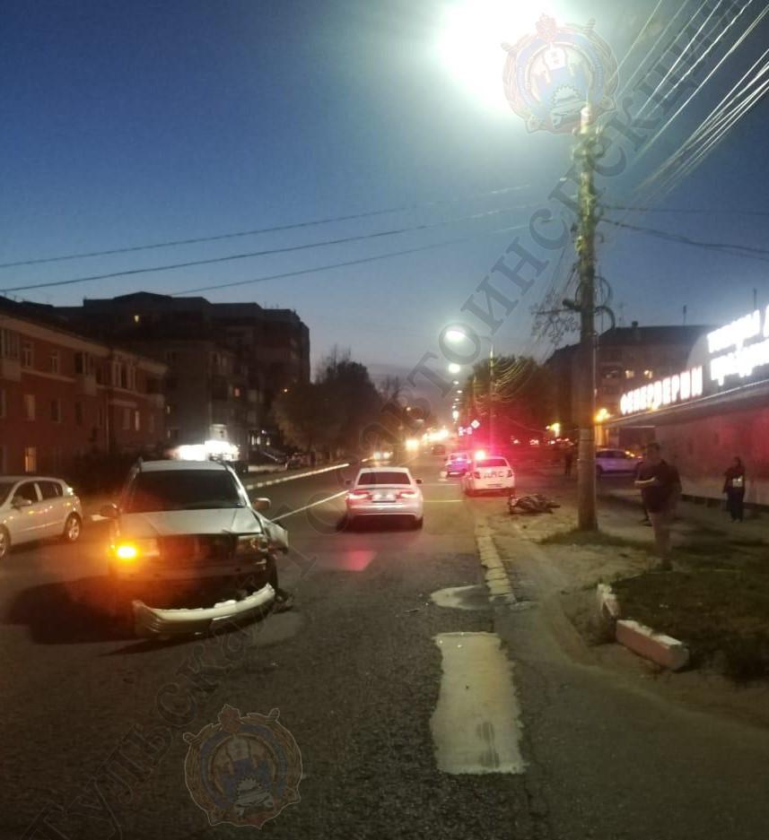 В Туле столкнулись кроссовер и мотоцикл