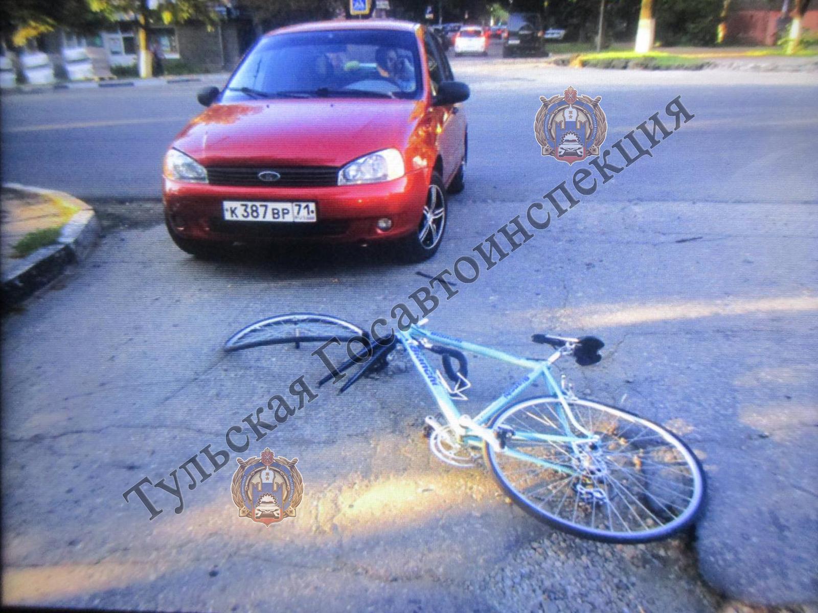В Туле на улице Первомайской сбили велосипедиста