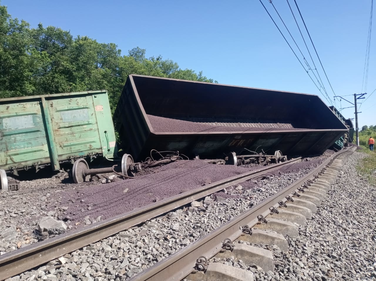 Сход грузового состава в Тульской области: возбуждено уголовное дело